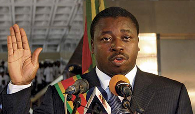Togo's Gnassingbe sworn in for third term