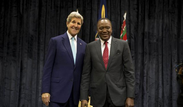 Kerry holds talks with Kenyan President
