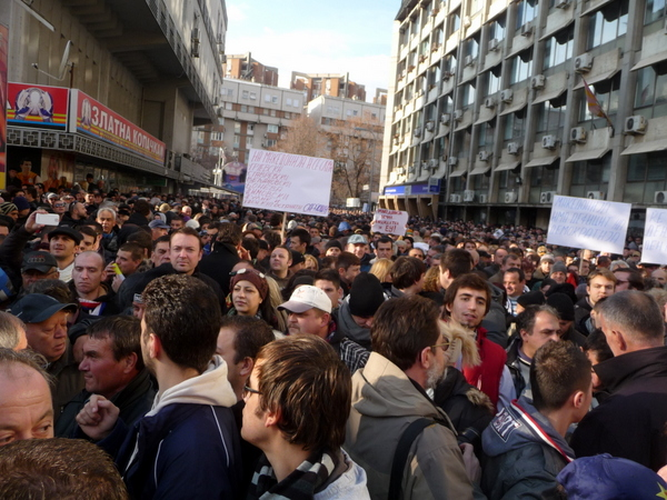 Macedonian oppositions rally against govt