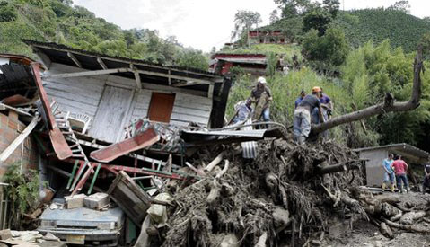 57 dead as Colombian river turns into mudslide