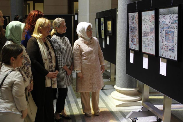 Turkey's First Lady visits cultural center in Sarajevo