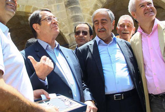 Cypriot leaders tour divided city after talks