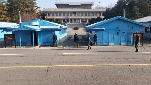 North and South Korea's leaders meet inside DMZ