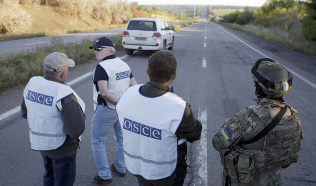 OSCE reports Russian soldiers near Donetsk