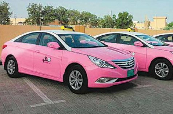 Pink taxis' promise Egyptian women comfy rides