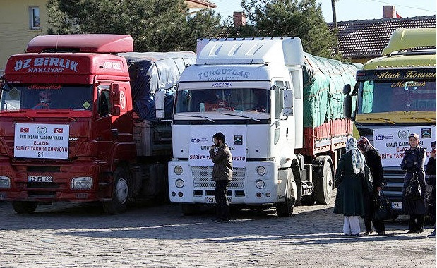 Turkish NGO IHH,Qatar send 27 trucks to Syria