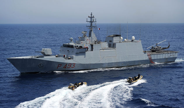 Iran-flagged ship targets U.S. Navy with laser