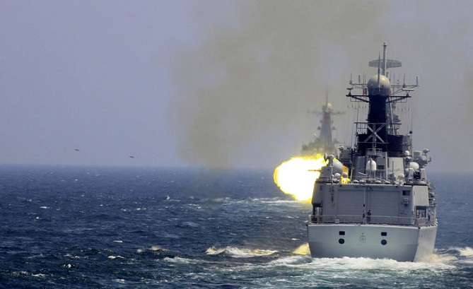 China navy holds first missile combat resupply drill