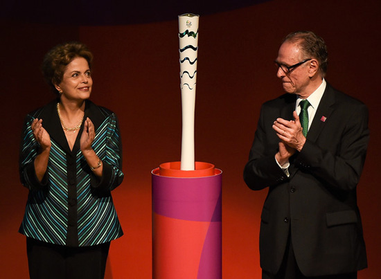 Brazil unveils Rio 216 Olympic torch