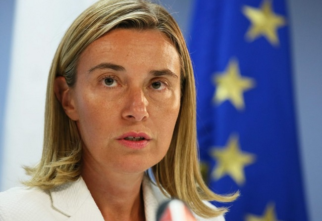 EU foreign policy chief meets Iranian FM in Brussels