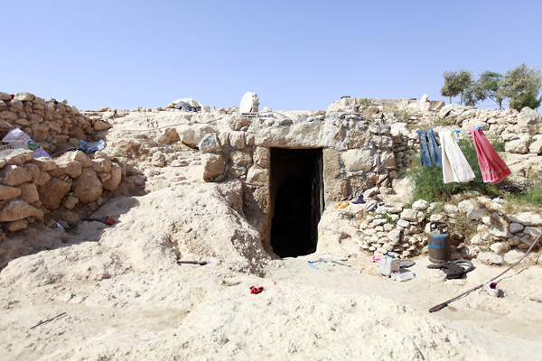 Cave dwellers of Palestine: 'They destroy, I rebuild'