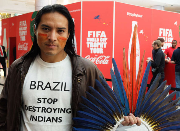 Brazilian indigenous leaders march for land and rights