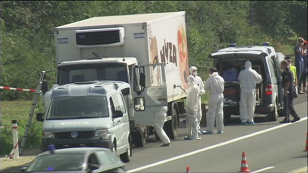 Three arrests in Hungary over dead refugees in lorry