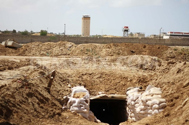 Israel says destroys tunnel from Gaza