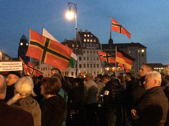 PEGIDA rallies against refugees in Dresden