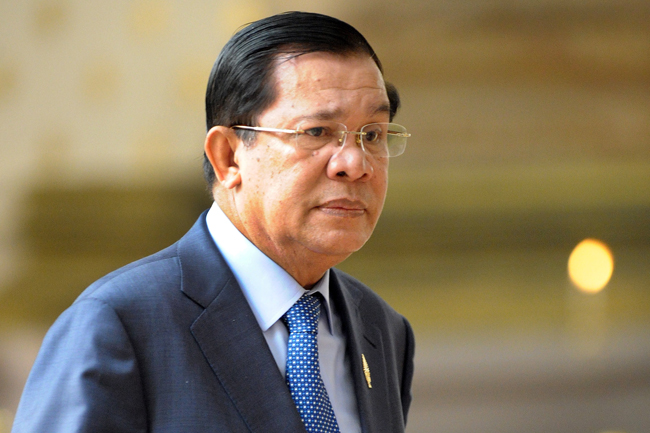 Cambodia PM takes aim at US over 'double standards'