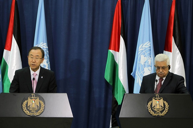 Abbas asks UN's Ban for protection from Israeli aggression