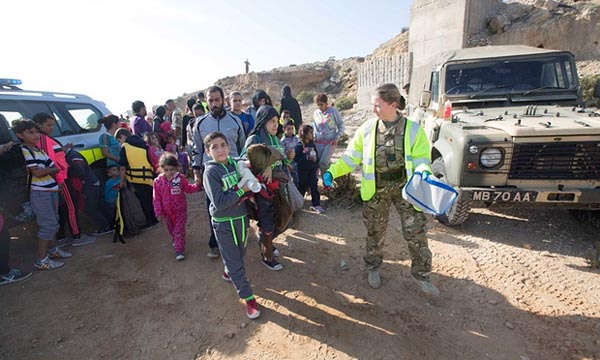 Refugees arrive on UK Cyprus military base