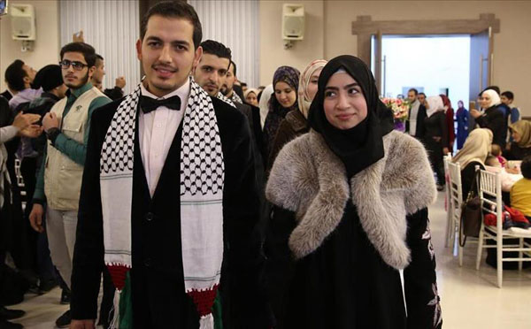 Fifty Palestinian couples tie the knot in Istanbul