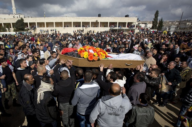 Thousands attend slain Palestinian mother's funeral