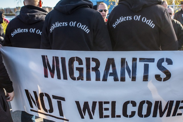 Far-right group intimidates refugees in Finland