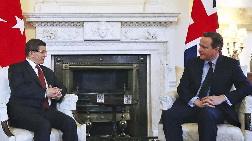 Cameron welcomes Turkey PM to London