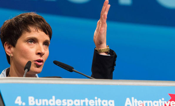 German populists in 'shoot refugees' storm