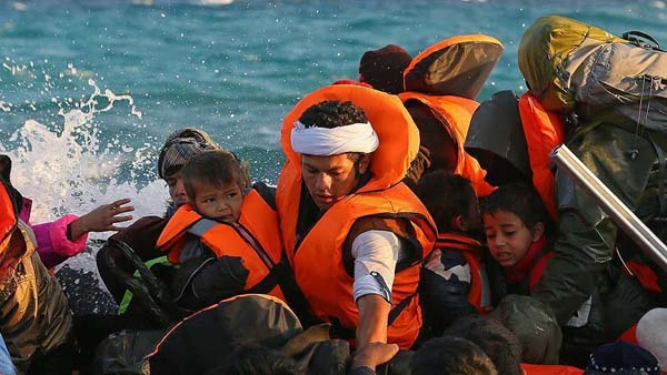 Boat with refugees capsizes off Greece