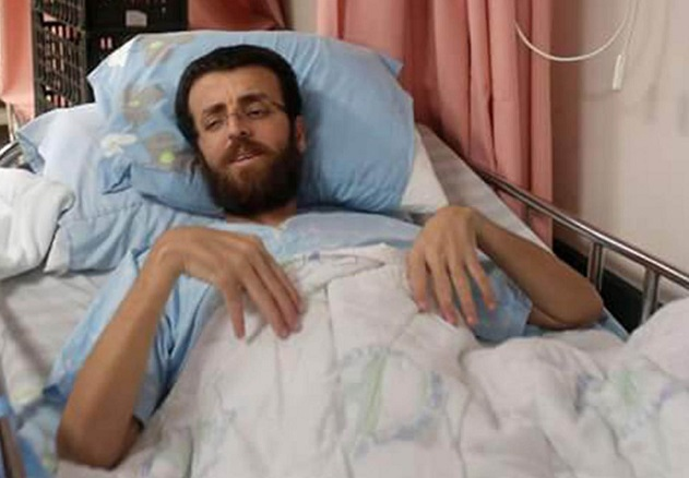 Palestinian hunger striker in critical condition