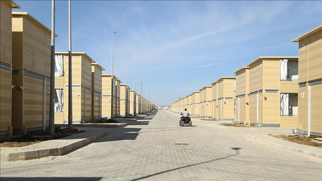 Turkey builds 'first two-story container refugee camp'