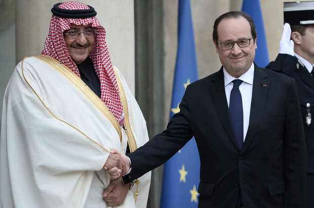 France defends top honour for Saudi prince
