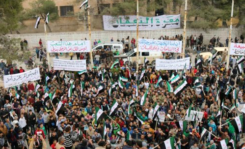 Qaeda in Syria threatened to fire on protesters
