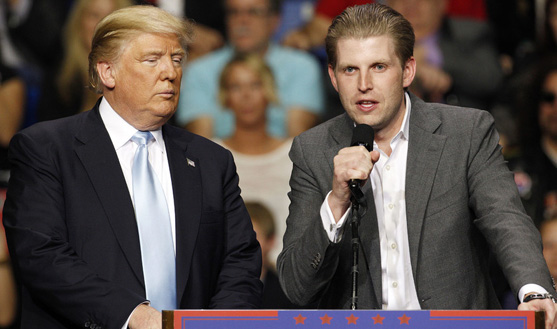 Suspicious powder sent to Donald Trump's son