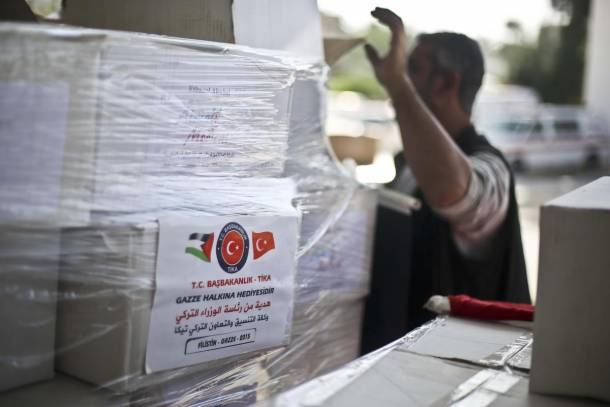 Turkish aid distributed to poor families in Gaza