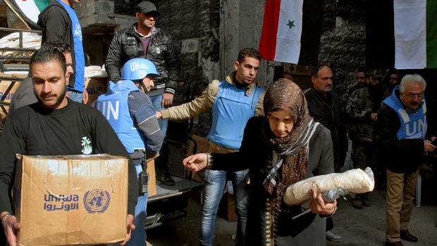 France, Britain push UN on Syria airdrops