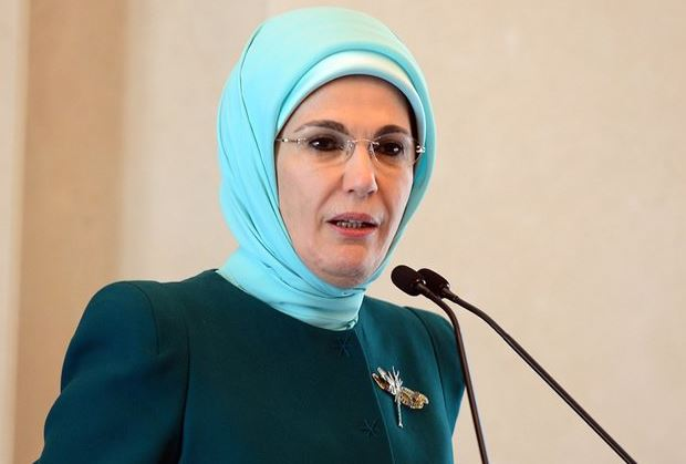Turkey's first lady calls for focus on 'gender justice'