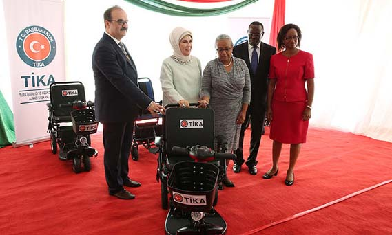 Turkey donates 24 motorized wheelchairs to Kenya
