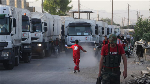 UN says Syrian towns being shelled after aid deliveries