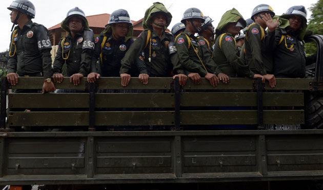Cambodian police beat, injure 3 during peaceful march