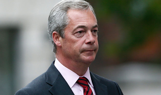 UK Independence Party leader Nigel Farage resigns