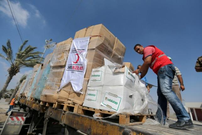 New shipment of Turkish aid arrives in Gaza