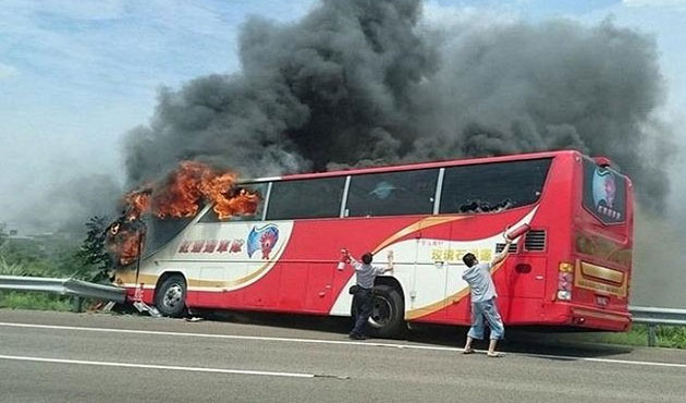 At least 26 mainland tourists killed in Taiwan bus fire