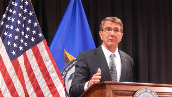 US defense chief: Interests in Asia-Pacific enduring