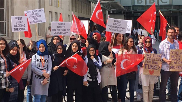 Turkish students' union protest against BBC in London