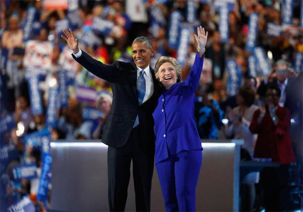 Obama: 'We're going to carry Hillary to victory'