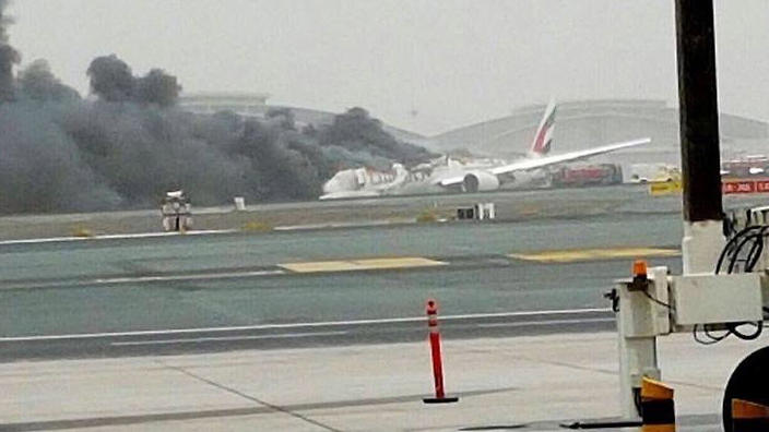 Emirates plane crash-lands in Dubai