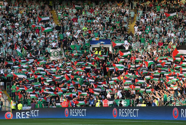 Football: Celtic fined over fans' Palestine display