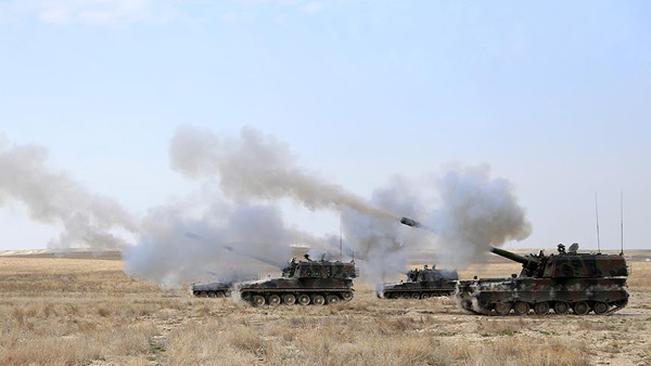 Turkish army hits 9 terrorist targets in northern Syria