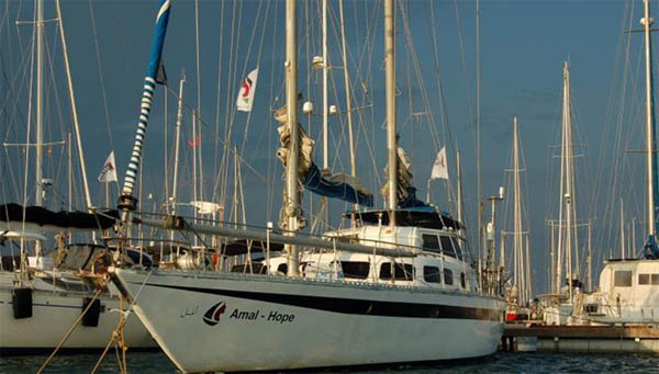 Women's boat to Gaza, sets off from Barcelona