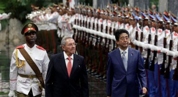 Japan PM wishes for stronger ties with Cuba
